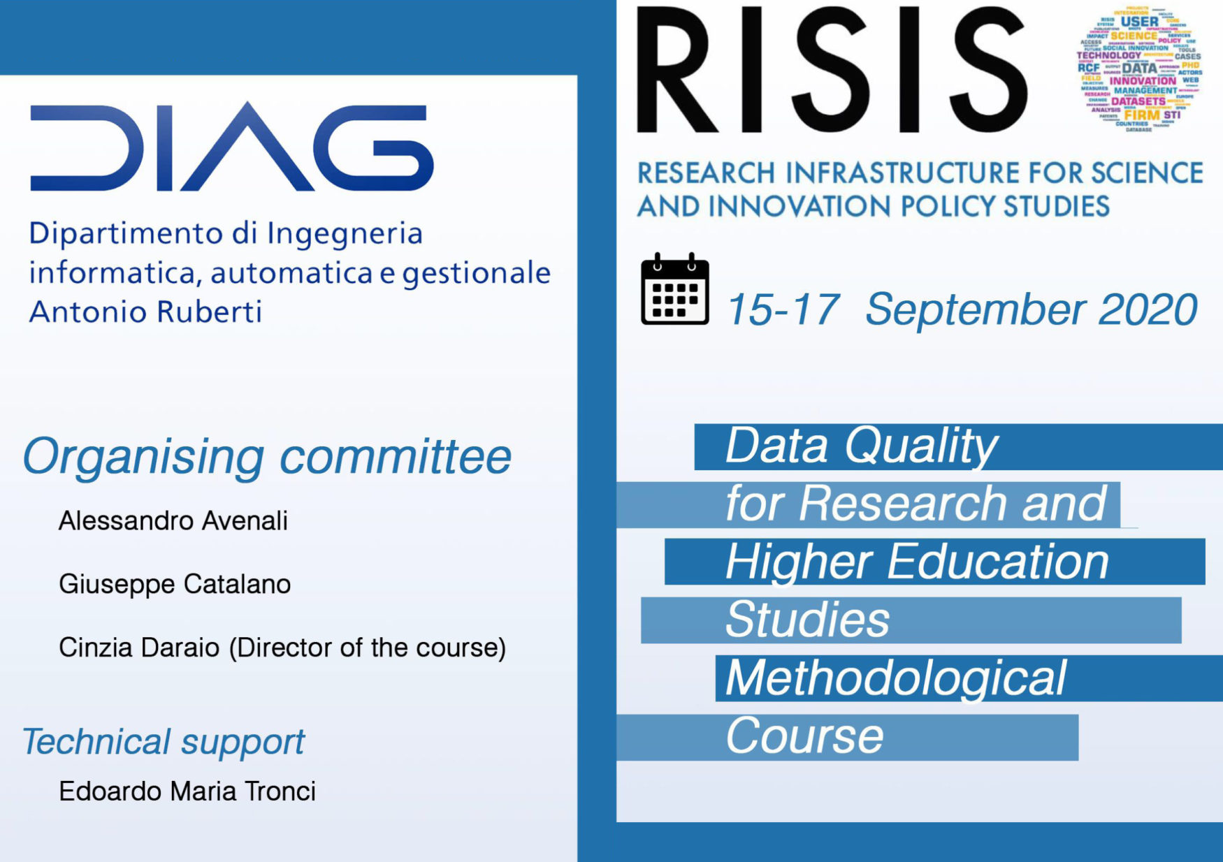 RISIS Online Training on Data Quality for Research and Higher Education Studies