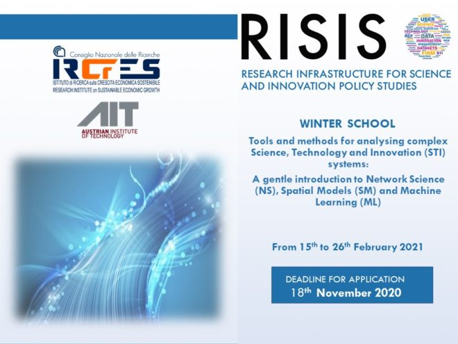 RISIS Online School on Tools and methods for analysing complex Science, Technology and Innovation (STI) systems